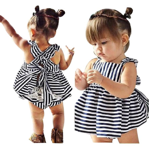 2 PC Backless Summer Sunsuit