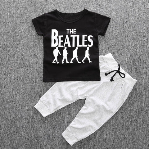 Beatles T-shirt+Long Pants Clothing Set