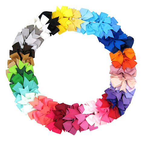 48 PC Handmade Boutique Hair Bow Grips