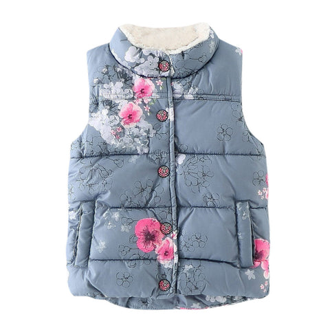 Floral Sleeveless Winter Vest