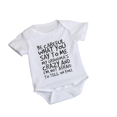 Be Careful What You Say Onesie