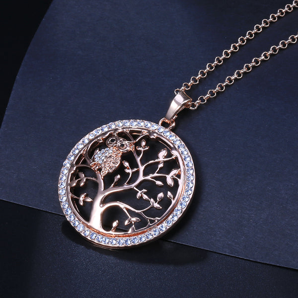 Owl Pendant & Necklace Tree Of Life