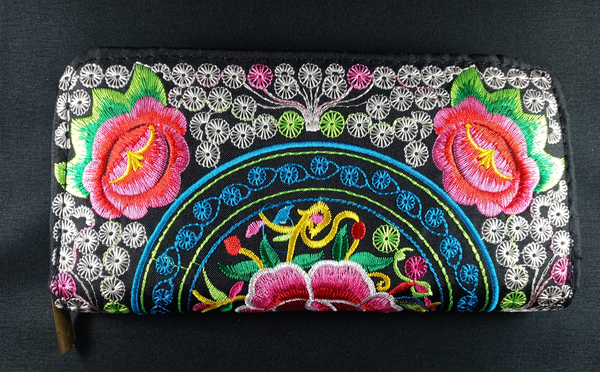 Embroidered Floral Wallets