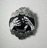 Skeleton hands around crystal ball Pin/Brooch