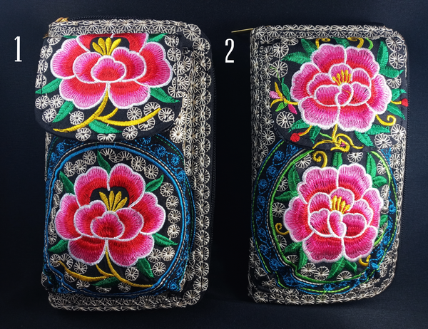 Embroidered Floral Wallet