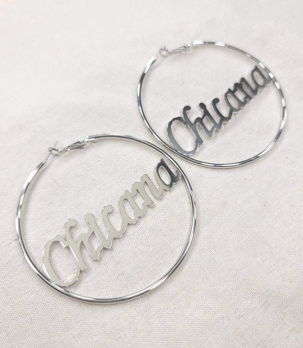 Sliver Chicana Hoops