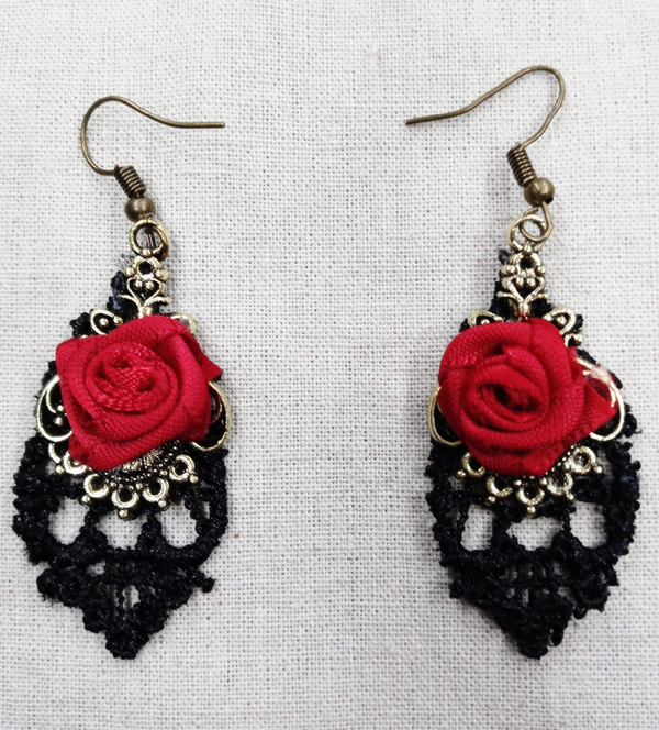 Black Lace Red Rose