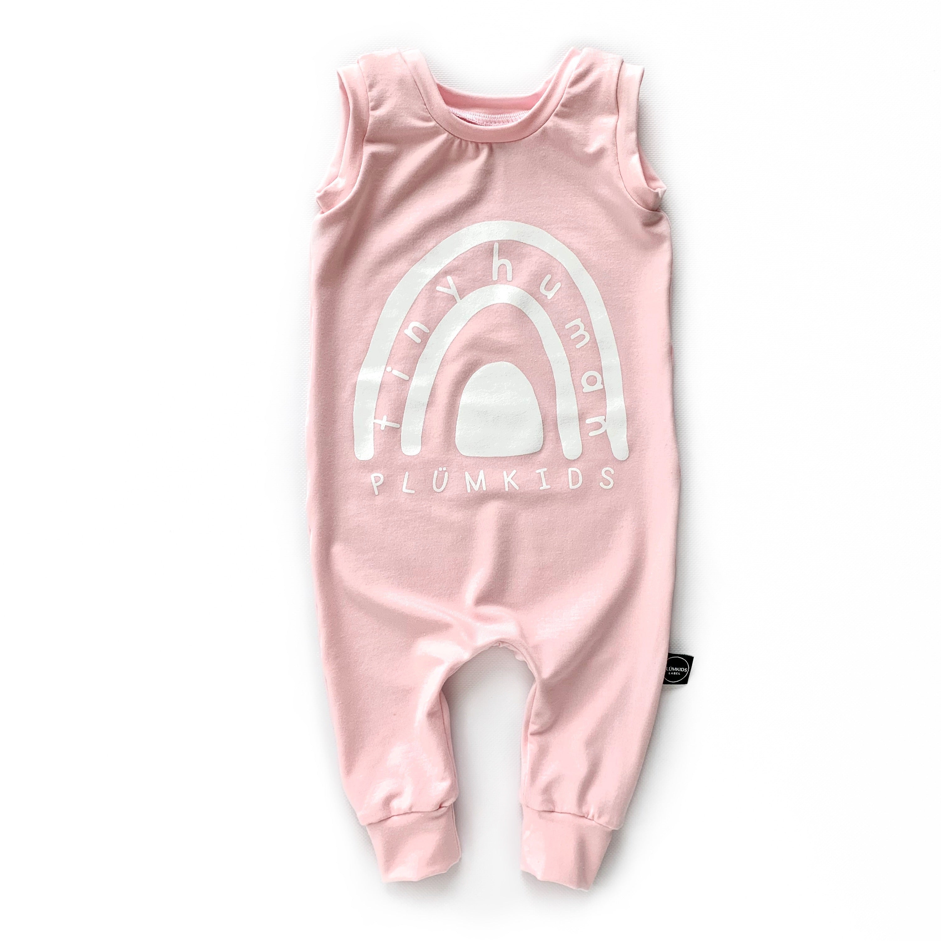 NEW TINY HUMAN ROMPER | RAINBOW ᕱ | PINK