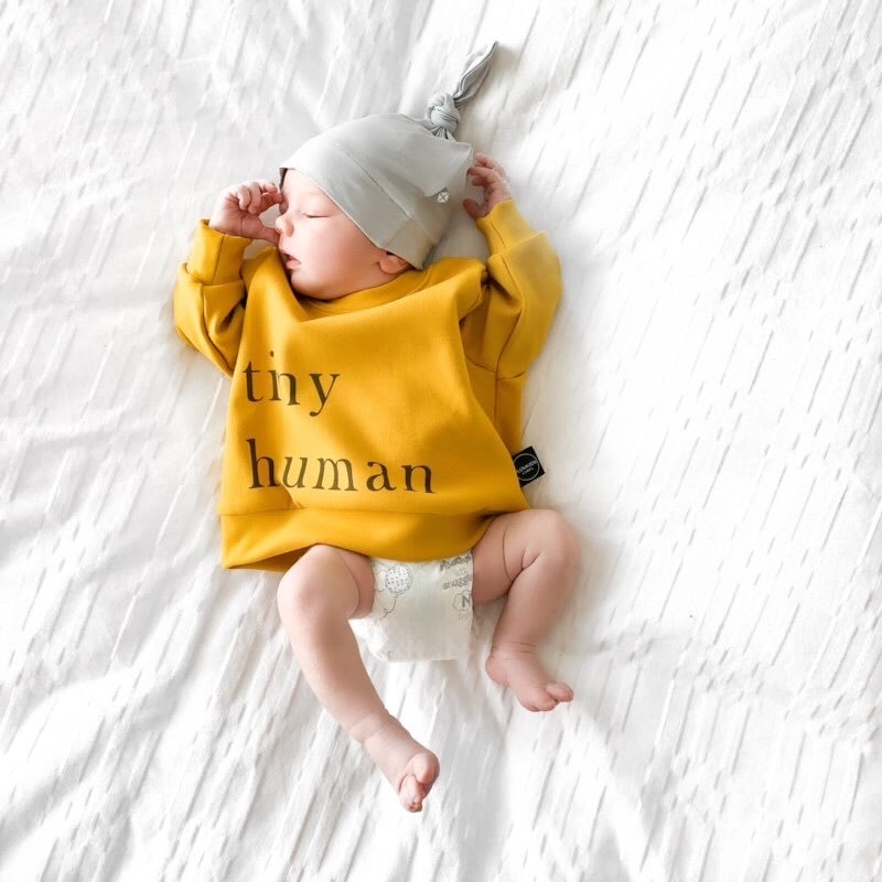 TINY HUMAN FLEECE SWEATER | PUMPKIN SPICE