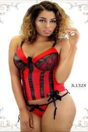 Plus Size Corset with satin ribbons