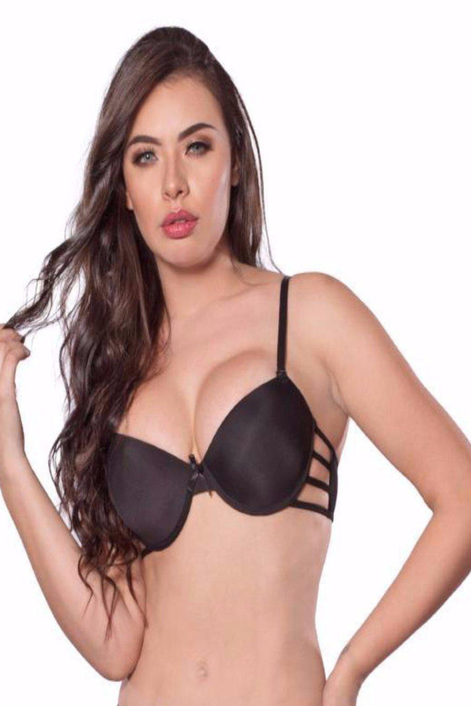 LL108 Black Underwire cup with Side Straps Bra