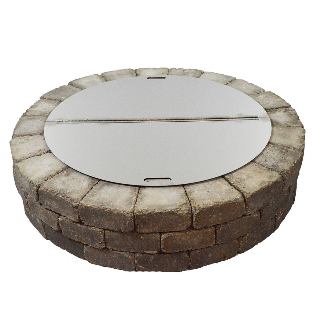 "40"" Round Stainless Steel Fire Pit Snuffer Cover"