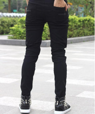 Triple Zipper Skinny Jeans - One Stop Steampunk