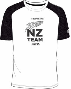 Mens White/Char Marle NZ Team Tee Design