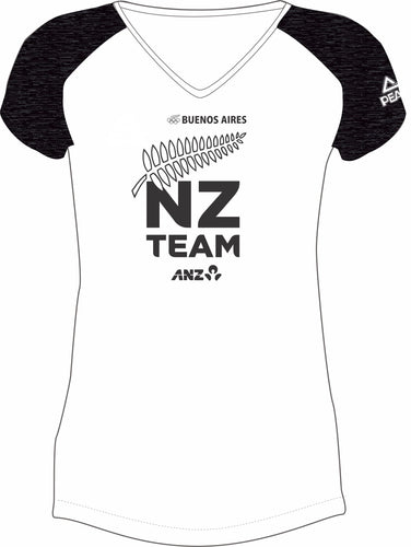 Womens White/Char Marle NZ Team Design