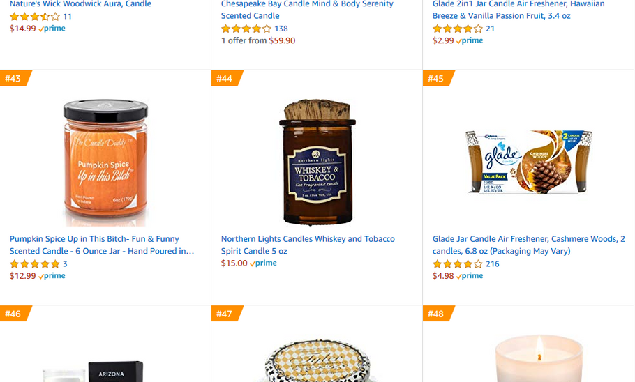 Excited today our Pumpkin Spice up in this Bitch candle is #43 in best sellers on the largest website in the world!