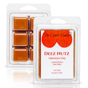 Deez Nutz - Valentine's Day Edition - Funny Banana Nut Bread Scented Wax Melt Cubes - 2 Ounces