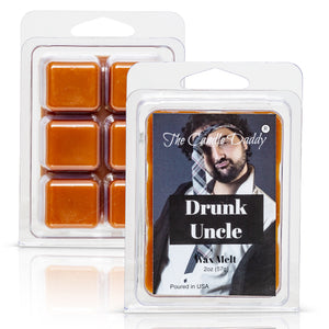 Drunk Unkle - Whiskey Scented Melt- Maximum Scent Wax Cubes/Melts- 1 Pack -2 Ounces- 6 Cubes