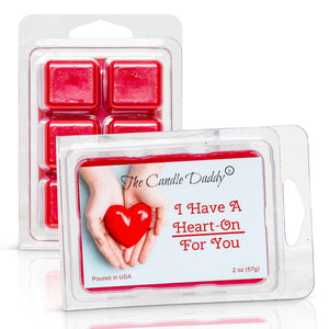 I Have a HEART ON For You - Valentine's Day Edition - Funny Red Hot Cinnamon Scented Wax Melt Cubes - 2 Ounces