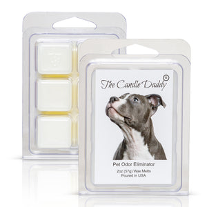 Pit Bull Dog - Pet Odor Eliminator Scented Melt- Maximum Scent Wax Cubes/Melts- 1 Pack -2 Ounces- 6 Cubes