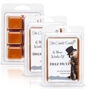 6 More Weeks of Deez Nutz -Groundhog Day Edition - Funny Banana Nut Bread Scented Wax Melt Cubes - 2 Ounces