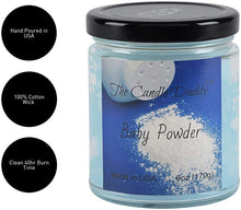 Baby Powder Jar Candle - 6 Ounce - 40 Hour Burn