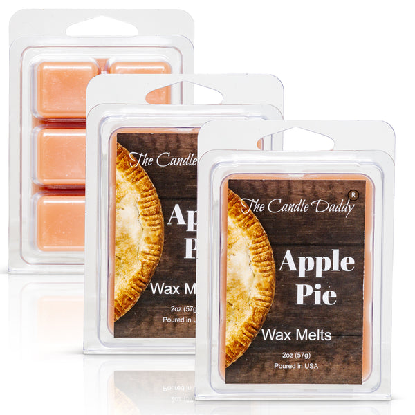 Apple Pie - Sweet American Freshly Baked Scented Melt- Maximum Scent Wax Cubes/Melts- 1 Pack -2 Ounces- 6 Cubes