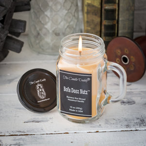 Bofa Deez Nutz Candle - 10 Ounce - 80 Hour Burn Time- The Candle Daddy- Banana Nut Bread-Hazelnut- Made in USA