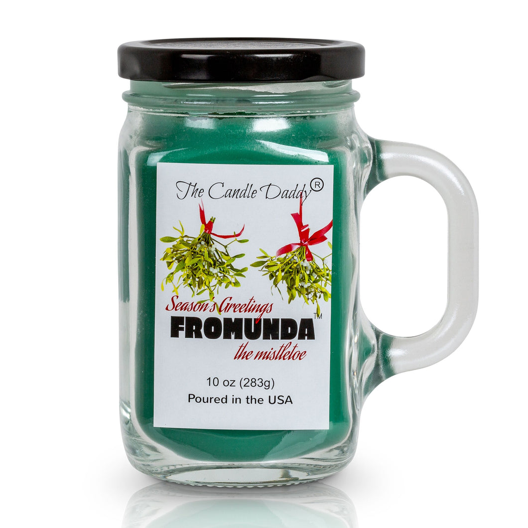 Christmas Candle- Funny- Seasons Greetings FROMUNDA The Mistletoe- Pine Scented Candle- Poured in USA