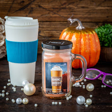 Pumpkin Spice Candle - Fun and Funny -10 Ounce- Basic Bitch - Made in USA