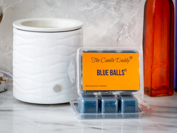 Blue Balls- Funny Blueberry Scented Wax Melt Cubes - 2 Ounces