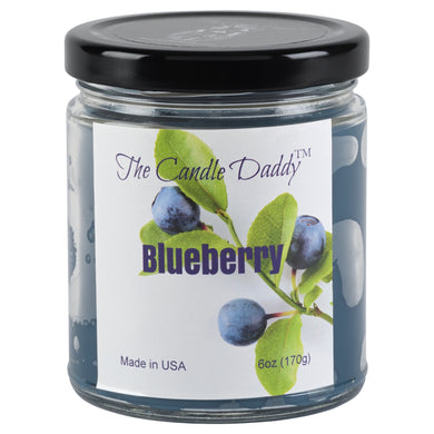 Blueberry - Blueberry Scented 6oz Jar Candle - The Candle Daddy - Hand Poured In Indiana