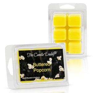 5 Pack - Buttered Popcorn Scented Wax Melts Cubes - 2 Ounces x 5 Packs = 10 ounces