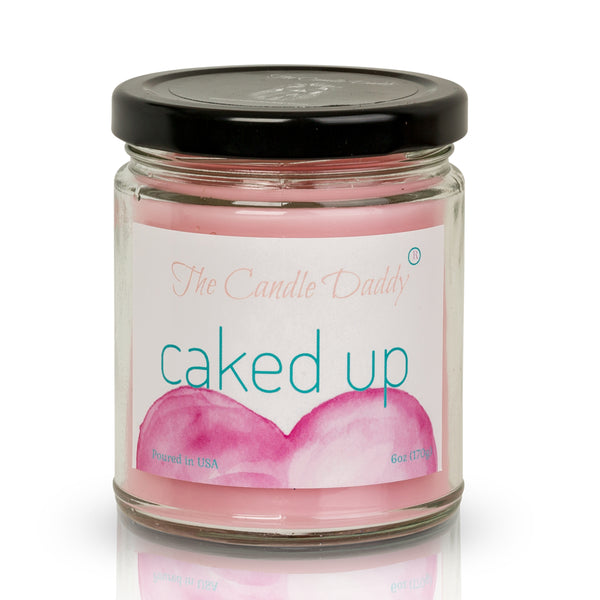 Caked Up - Birthday Cake Scent - Maximum Scented 6 Ounce Jar Candle - Hand Poured In Indiana