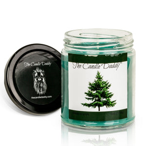 Pine Tree Cristmas Holiday Candle - Funny Blue Spruce Pine Tree Scented Candle - Funny Holiday Candle for Christmas, New Years - Long Burn Time, Holiday Fragrance, Hand Poured in USA - 6oz