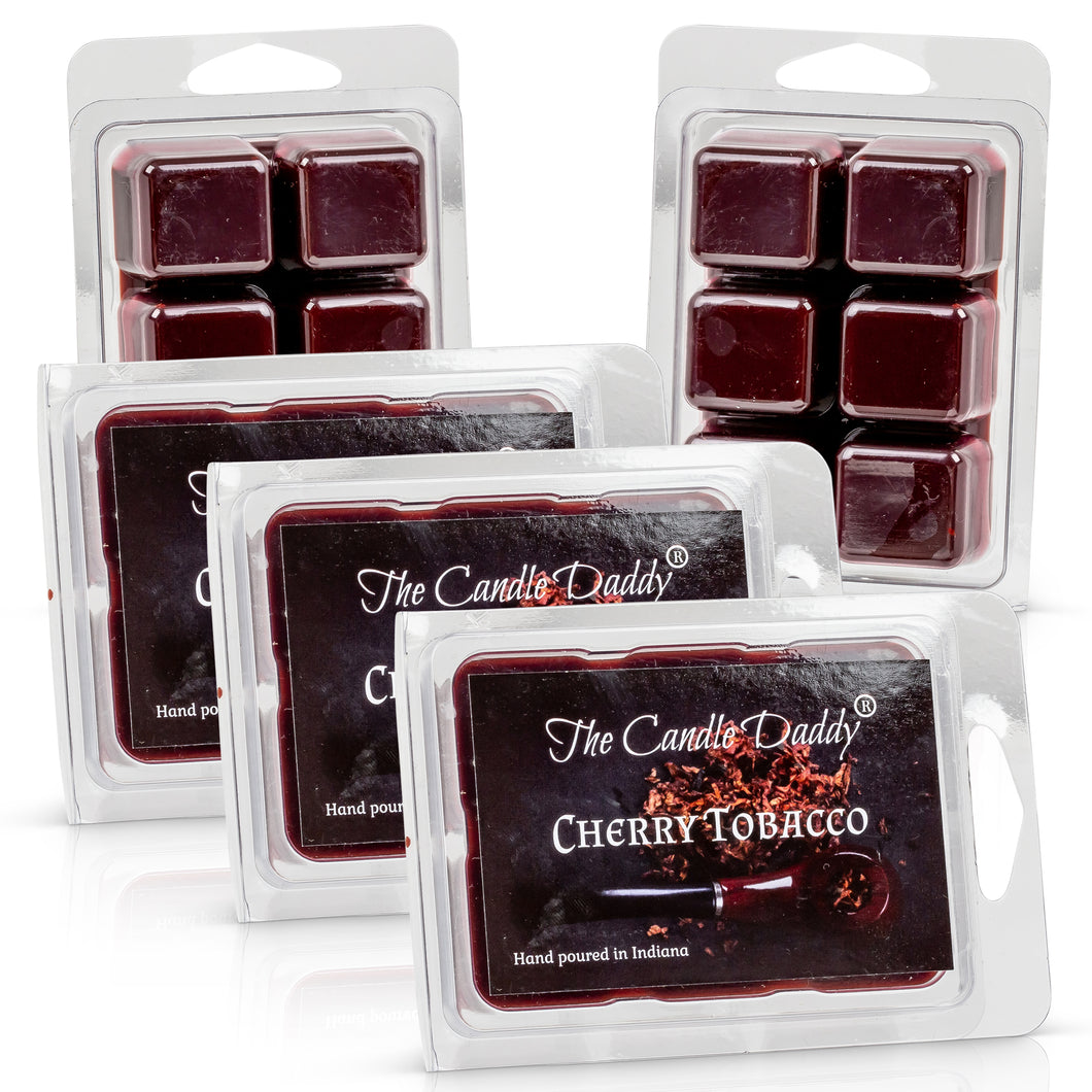 5 Pack - Cherry Tobacco Scented Wax Melt Cubes - 2 Oz x 5 Packs = 10 Ounces