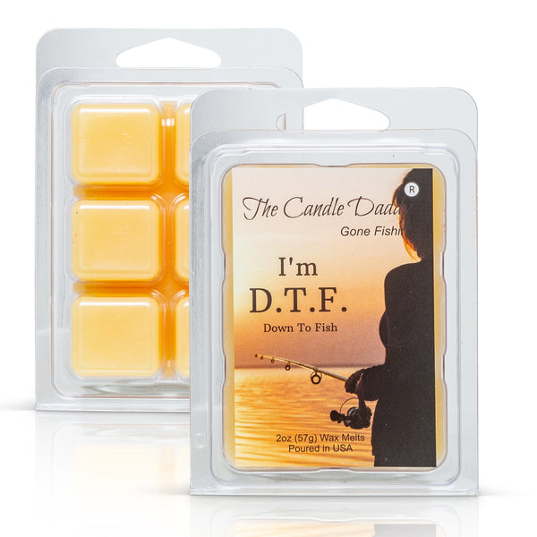 "The Candle Daddy's Gone Fishin' - D.T.F. ""Down To Fish"" - Ocean Breeze Scented Melt- Maximum Scent Wax Cubes/Melts- 1 Pack -2 Ounces- 6 Cubes"