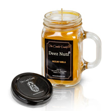 Deez Nutz - Hazelnut Vanilla Scented 10.5 Ounce Mason Jar Candle - Poured In The USA