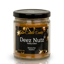 Deez Nutz Holiday Edition Candle - Funny Banana Nut Bread Scented Candle - Funny Holiday Candle for Christmas, New Years - Long Burn Time, Holiday Fragrance, Hand Poured in USA - 6oz