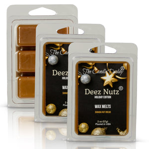 Deez Nutz -Holiday Christmas Edition - Funny Banana Nut Bread Scented Wax Melt Cubes - 2 Ounces