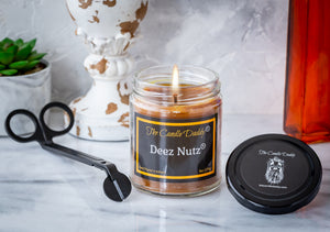 Deez Nutz - Banana Nut Bread Scented 6 Ounce Candle - The Candle Daddy - Hand Poured In Indiana
