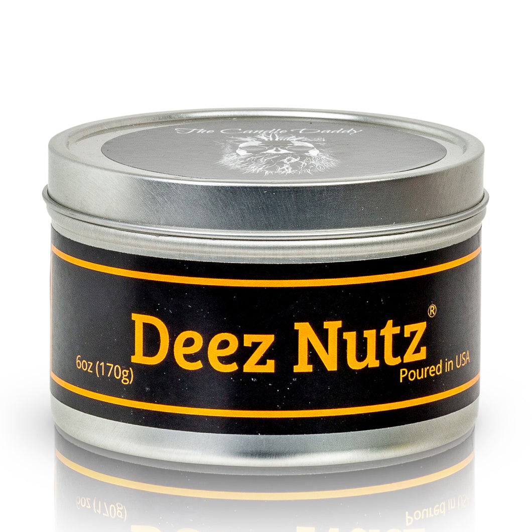 Deez Nutz - Banana Nut Bread scented 6 oz travel tin candle - Poured in the USA