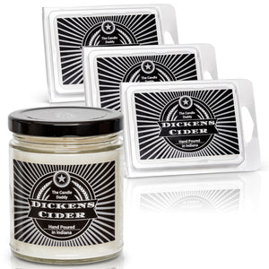 Dickens Cider Combo - 6 Ounce Candle & 3 Wax Melts (Apple Maple Bourbon)