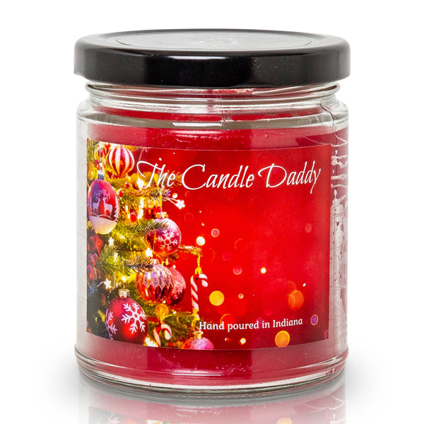 Christmas Splender - Christmas Morning Scented 6 Ounce Glass Jar Candle - 40 Hour Burn Time