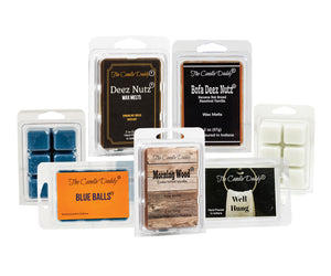 """Daddy's Greatest Hits Vol. 1"" Combo Set Of Five of Our Favorite Scented Wax Melt Cubes - Deez Nutz, Bofa Deez Nuts, Blue Balls, Morning Wood and Well Hung"