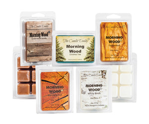 """Sunrise Special"" Combo Set Of Five Scented Morning Wood Wax Melt Cubes - Cedarwood Vanilla, Teakwood, Sandlewood, Christmas Tree, White Birch"