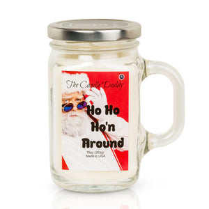 Ho Ho Ho'n Around - Cool Winters Night Scent - 10 Ounce Mason Jar Candle - Poured In The USA