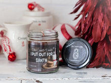 I Put Out For Santa Holiday Candle - Funny Chocolate Chip Cookie Scented Candle - Funny Holiday Candle for Christmas, New Years - Long Burn Time, Holiday Fragrance, Hand Poured in USA - 6oz