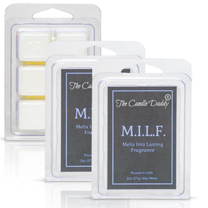 "M.I.L.F ""Melts Into Lasting Fragrance"" - Beautifully Formulated MILF Scent - Maximum Scented Wax Melt Cubes - 2 Ounces Each"
