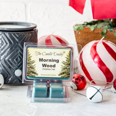 Morning Wood - Funny Christmas Tree Scented - Blue Spruce Scented Wax Melts 2 oz- Hand Poured in Indiana